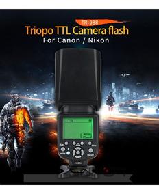 Flash Triopo Tr-988 Ttl Universal P/ Canon Ou Nikon Tr988