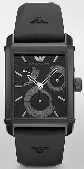 Relógio Empório Armani Ar4237 Orig Mec Autom Silicone!