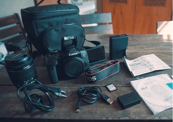 Canon T6i +18-55mm + Bolsa + Cartão 16gb+ Wifi + Frete Grátis + A Vista 2299,00