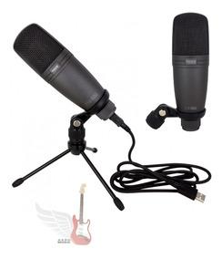 Microfone Condensador Usb Profissional Studio Novik Fnk-02u