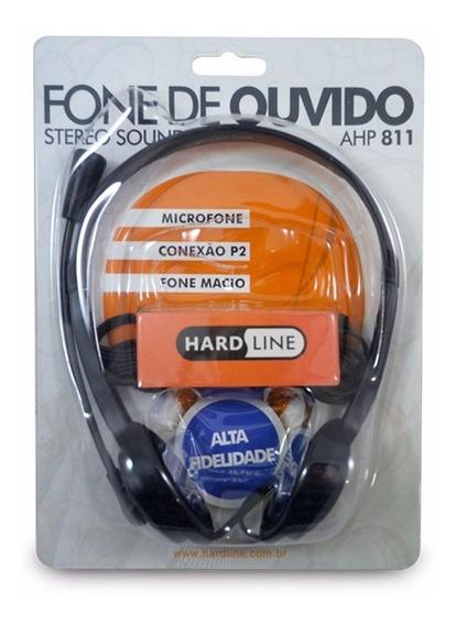 Fone De Ouvido Hardline Com Microfone Preto Ahp-811