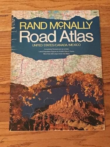 Road Macknally Atlas  Usa Canada Mexico 1982