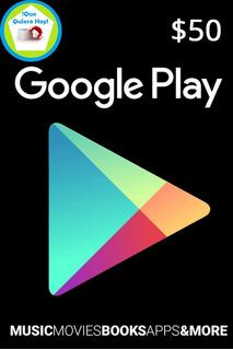 Tarjetas Google Play $50 Acepto Btc
