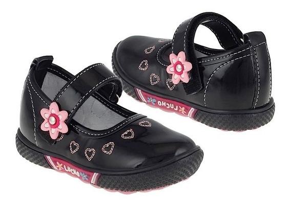 Zapatos Casuales Lucho 181 12-14 Charol Negro