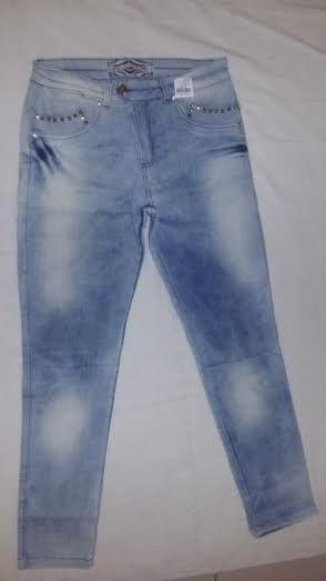 Calça Jeans Plus Size Azul Clara Lycra Strech Ótimo Caimento