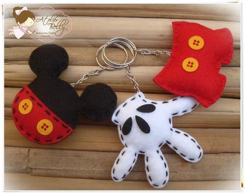 30 Chaveiro Kit Festa Lembrancinha Aniversário Mickey Mouse