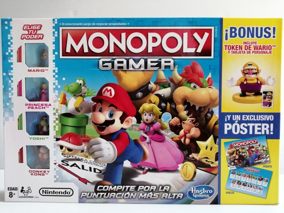 Monopoly Gamer Mario Bros Nintendo Con Bonus Token Wario