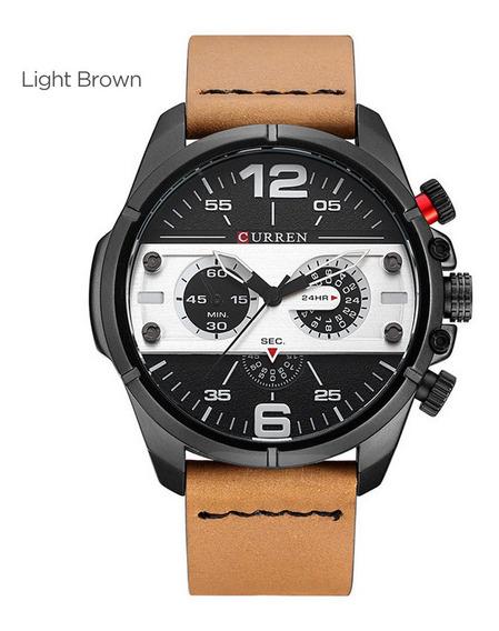 Curren 8259 Relógio Casual Moda Quartzo Relógio De Pulso Cas