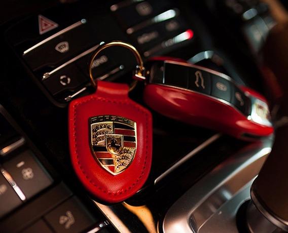 Kit Chaveiro Porsche Original, Capa Chave, (vermelho)