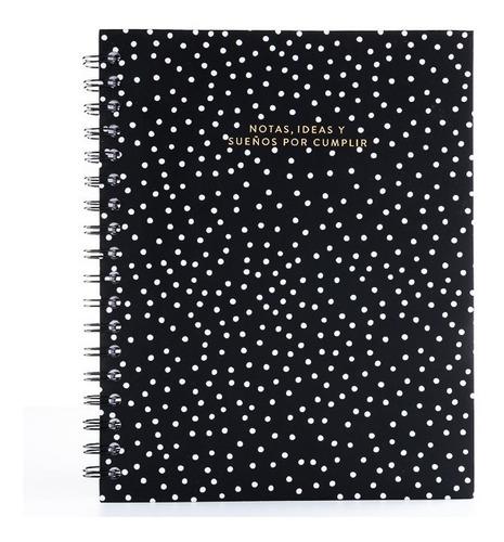 Cuaderno Punteado Tipo Bullet Journal Papelí - Negro