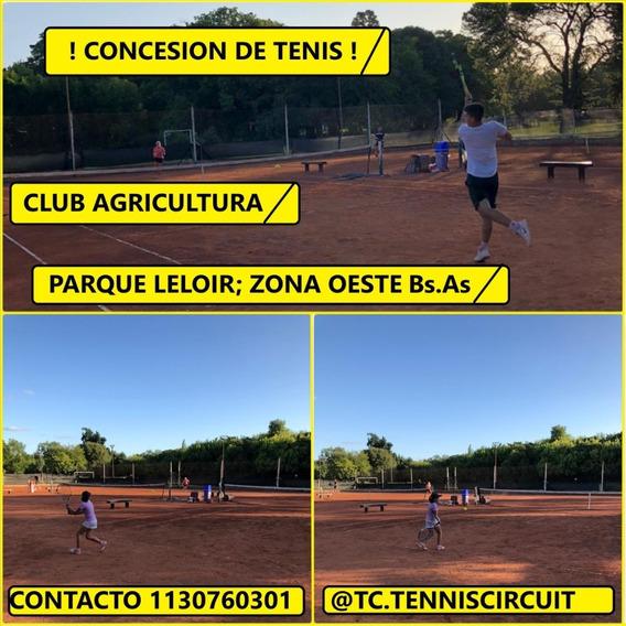 Sociedad Concesion Canchas De Tenis (3 De Polvo De Ladrillo)