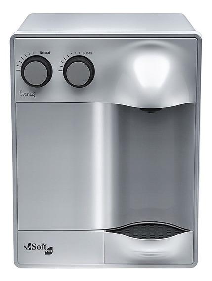 Purificador Água Refrigerado Por Compressor Soft Plus Prata - Uso Comercial 127v
