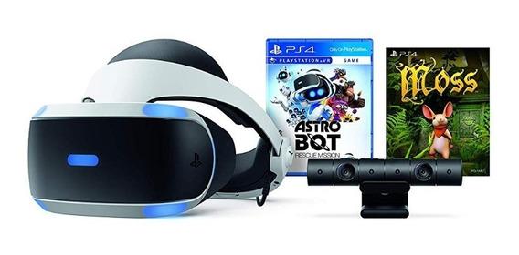 Playstation Vr + Astro Bot + Moss +batman + Cámara + Virtual
