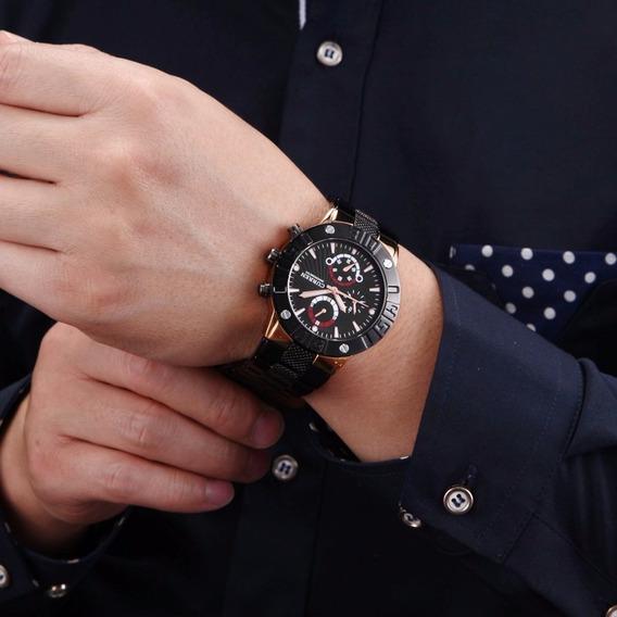 Relógio Barato Esportivo Luxo Novo Militar Masculino Curren