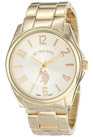 Reloj De Hombre Polo Modelo 80215 Original Dorado