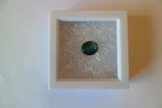 Raro Safira Verde Lapidação Oval 4 Ct