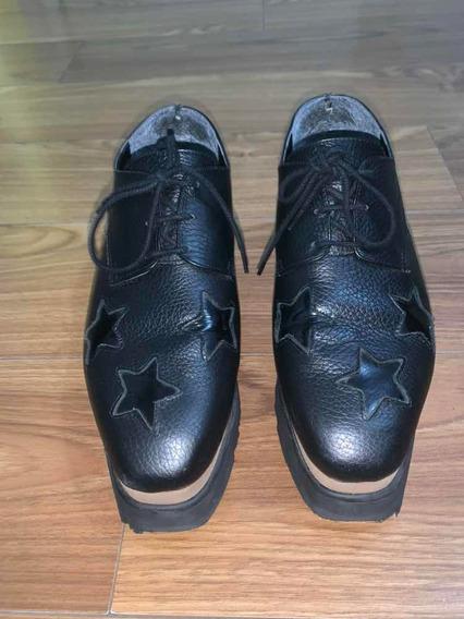 Zapatos Con Plataforma Negros N39