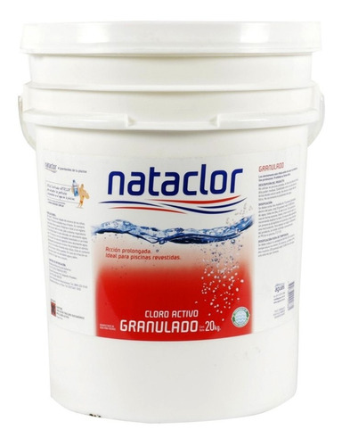 Cloro Granulado Disolución Lenta 20kg Nataclor