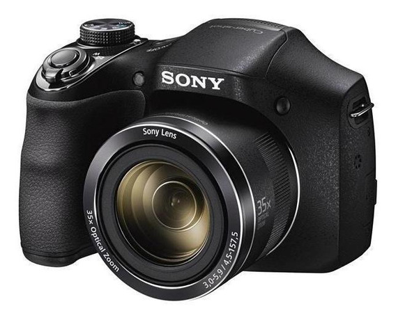 Camera Sony Dsc-300 20mp Hd + 35x Zoom + Pilha + Garantia