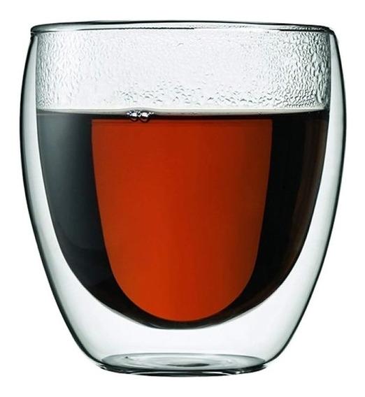 Vaso Doble Vidrio Para Bebidas Frias Y Calientes 250 Ml