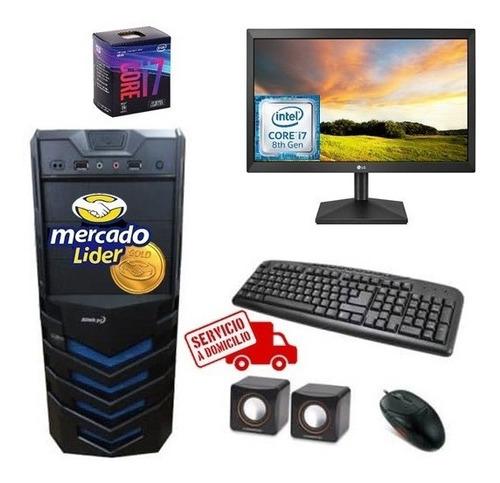 Computador Intel Core I7 8va Gen 1tb 8gb Monitor Led 20 Cpu