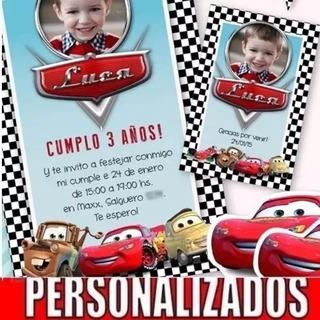 Cars Tarjetas Personalizadas Para Cumpleaños Cars En Mercado