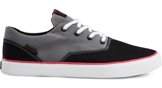Zapatillas Volcom Skate Draw Lo Blk Grey. Nuevas!