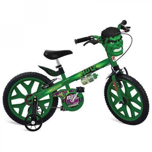Bicicleta Aro 16 Hulk Vingadores Brinquedos Bandeirante Verd