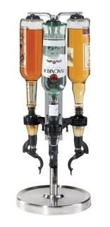 Dispensador De Licor Profesional Giratorio De 3 Botellas Bar
