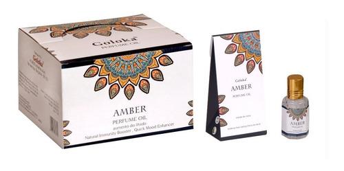 Óleo Perfumado Indiano Goloka Âmbar 10ml - Aumento Do Libido