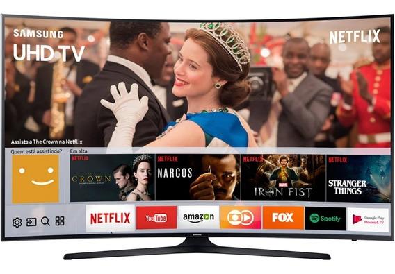 Smart Tv Samsung 55 Curva Un55mu6300 Tela Quebrada