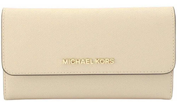 Tri-fold Leather Wallet Michael Kors, Color Nude