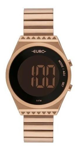 Relógio Feminino Euro Fashionfit Slim Eubjt016ab/4j Rosé
