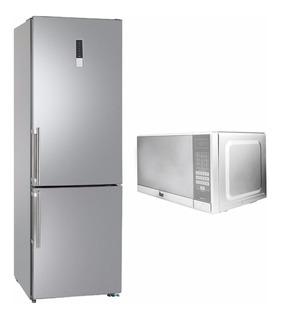 Refrigerador Teka Slim Antihuella Acero Inox Nfl 340 + Horno