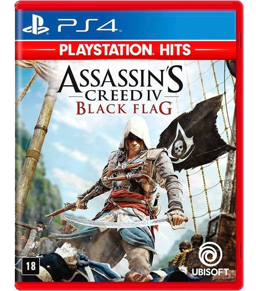 Assassins Creed Iv Black Flag Jogo De Ps4 - Mídia Física!