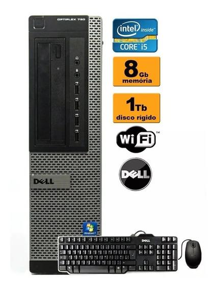 Cpu Dell 790 I5 2ª Ger 8gb Hd 500 Teclado E Mouse + Wi-fi