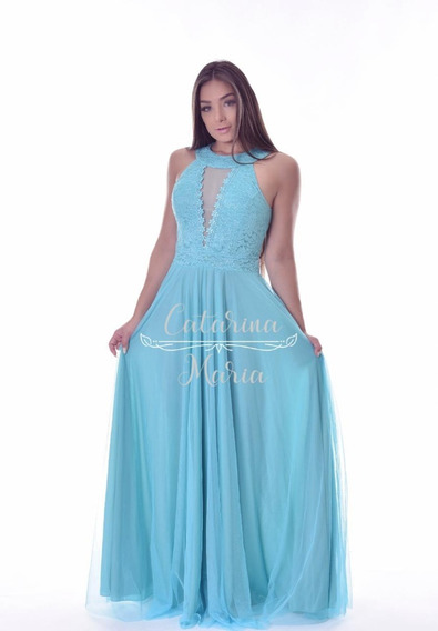 Vestido Madrinha Marsala Tifany Rose Luxuoso Costas Tule