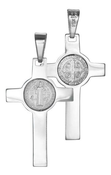 Medalla De Cruz De Oro Espíritu Santo 14k
