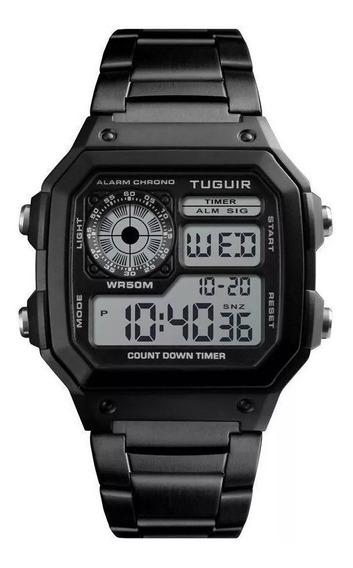 Relógio Digital Masculino Tg1335 Preto Original