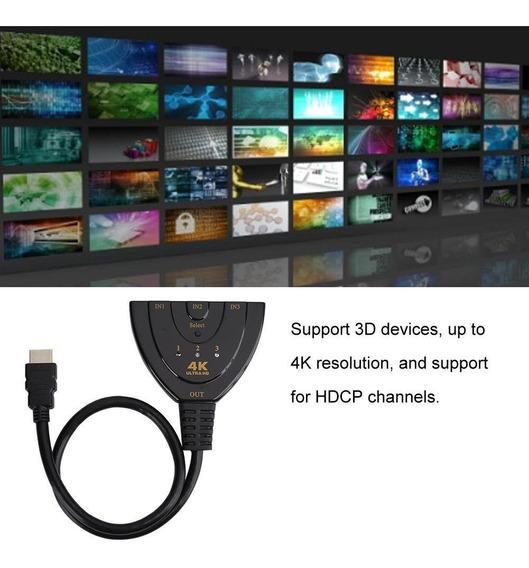 3x1 4k 3d 1080p Mini Hdmi Splitter Hub Switcher Para Dv
