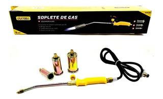 Soplete De Gas 3 Boquillas 30-40-50 + 1.5mt Cable Uyustools