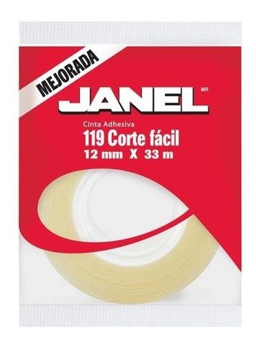 Imagen 1 de 2 de Cinta Janel 18x33 Adhesiva Precio De Mayoreo $5.13 Cotiza!!