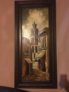 Pintura Al Óleo De 1.33 Mts X 66 Cm. Pintor Vega
