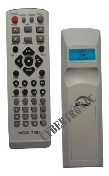 Controle Remoto Som Micro System Lg Lms-1050 / Lm-w550