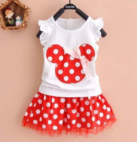 Conjunto Minnie Infantil Blusa Saia Tutu Disney Importado