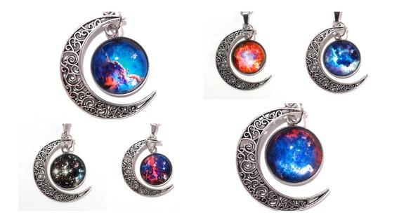 Collar Luna Galaxia Universo Nebulosa Estrellas Variedad