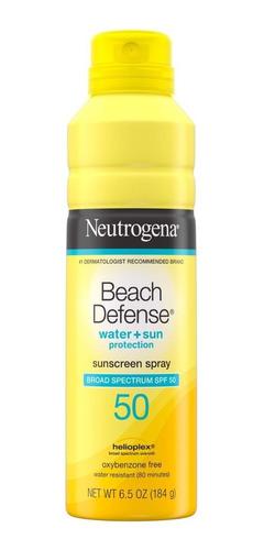 Protector Solar En Spray Beach Defense Spf 50 Neutrogena