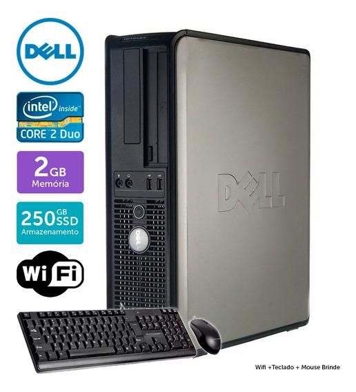 Computador Usado Dell Optiplex 745 C2d 2gb Ssd250gb Brinde