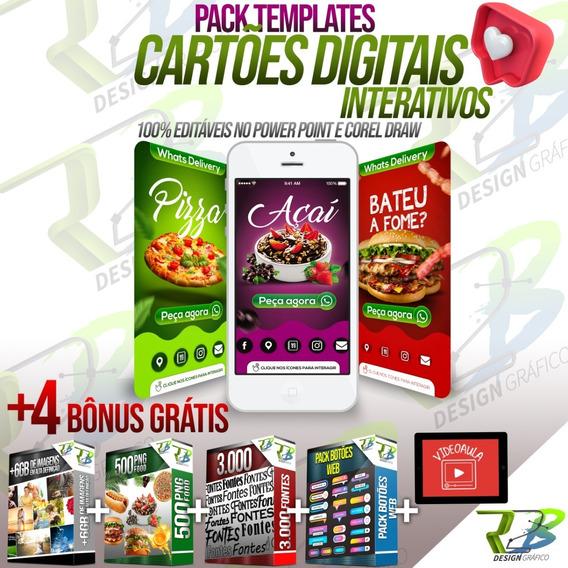 Pack Cartões Interativos Digitais Editáveis Powerpoint E Cdr