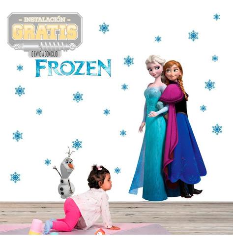 Vinilo Decorativo Infantil Niña Frozen Ana Elsa Decora